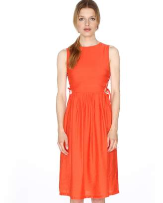 PepaLoves Sleeveless Flared Dress with Side Lacing