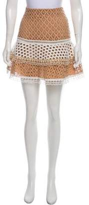 Alexis Lace Mini Skirt