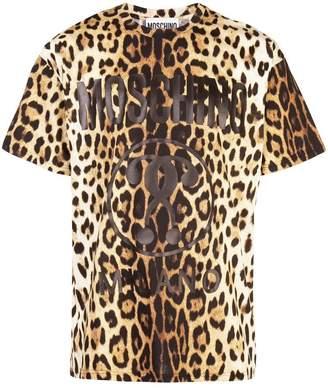 Moschino leopard print logo T-shirt