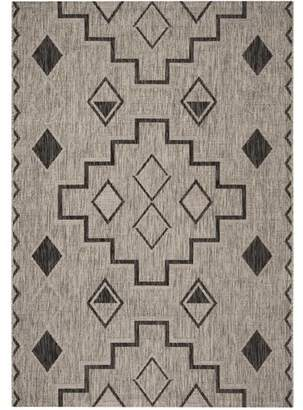 Union Rustic Mathes Gray/Black Indoor/Outdoor Area Rug Rug