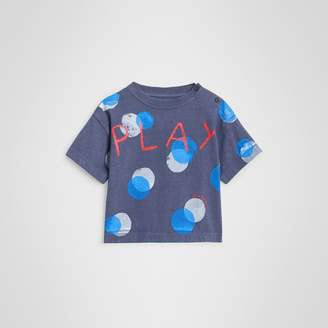 Burberry Childrens Oversized Spot Print Cotton T-shirt