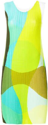 Issey Miyake knitted wave pattern dress