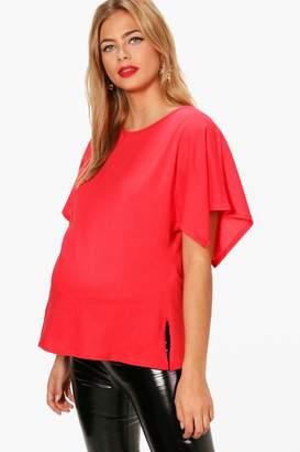 boohoo Maternity Alicia Oversized Side Split T-Shirt
