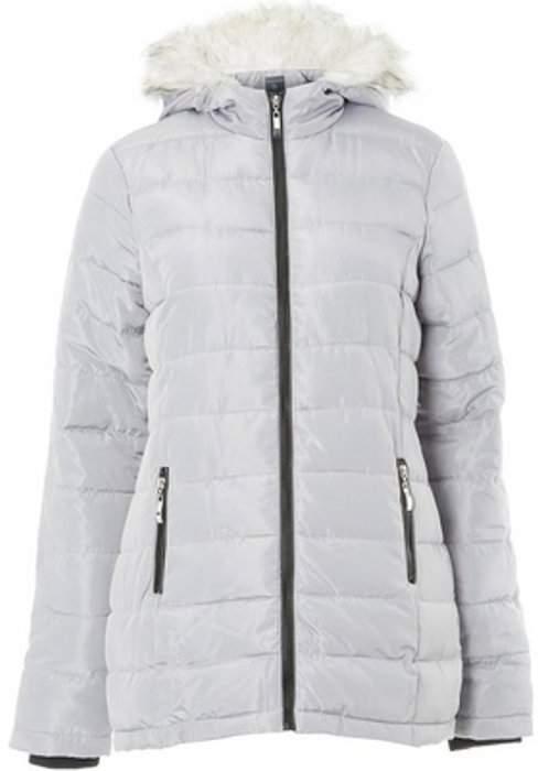 Womens **Tall Grey Pebble Padded Coat