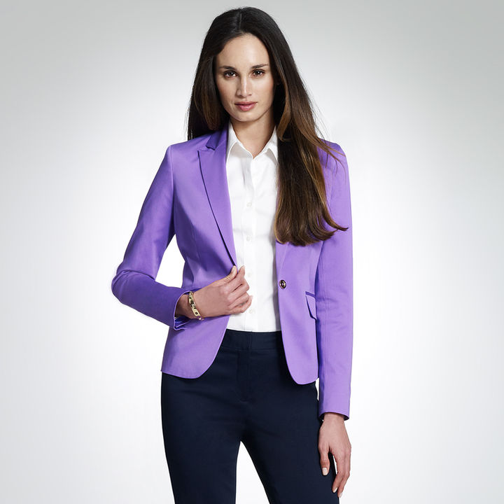 Cotton Sateen Blazer