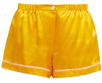 Araks Tia Silk Satin Shorts - Womens - Yellow