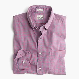 J.Crew Stretch Secret Wash shirt in ruby heather poplin gingham