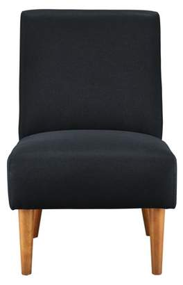 Mainstays Armless Swoop Chair with Wood Legs, Multiple Colors