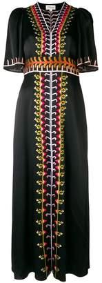 Temperley London embroidered v-neck long dress