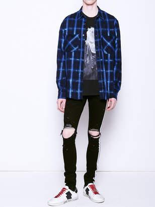 Amiri Gliter loose fit plaid shirt