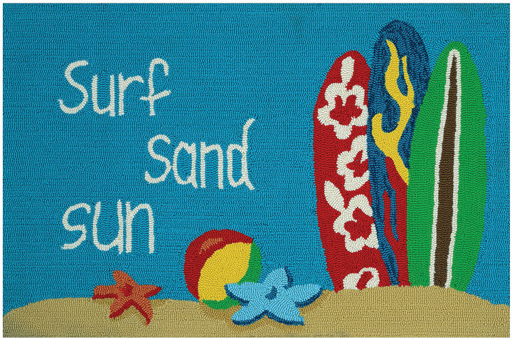 CouristanCouristan Surf Sand Sun Hooked Rectangle Accent Rug
