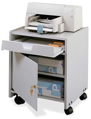 Safco, SAF1854GR, Wood Machine Floor Stand, 1 Each, Gray