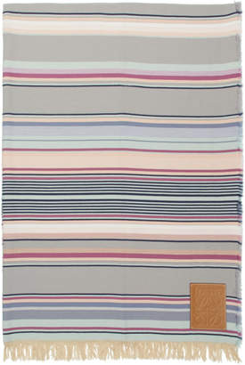 Loewe Multicolor Striped Blanket