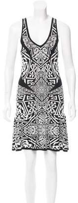 Nicole Miller Abstract Patterned Knit Dress w/ Tags $95 thestylecure.com