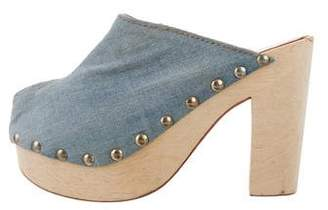 Brother Vellies Denim Platform Mules