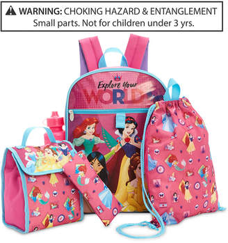 Disney Disney's Princesses 5-Pc. Backpack & Accessories Set, Little & Big Girls