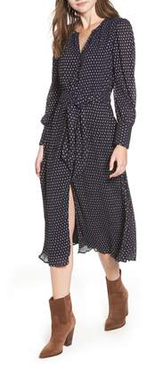 Hinge Foil Dot Midi Dress