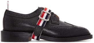 Thom Browne Black Grosgrain Longwing Brogues