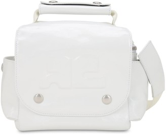 Courreges EMBOSSED LOGO PATENT LEATHER TRAVEL BAG