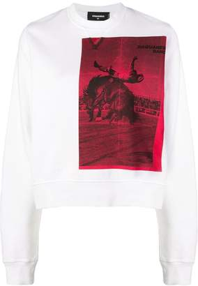 DSQUARED2 cowboy print sweater