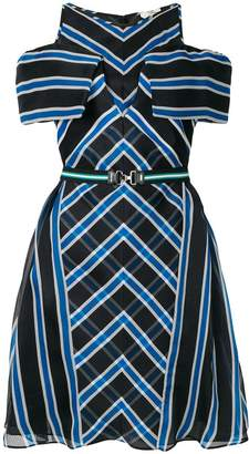 Fendi checked belted dress