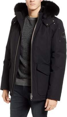 Moose Knuckles Pearson Jacket with Genuine Fox Fur Trim