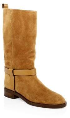 Stuart Weitzman Case Mid-Calf Leather Boots