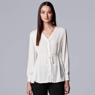 Vera Wang Women's Simply Vera Crepe Tunic Shirt