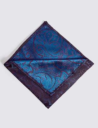 Marks and Spencer Pure Silk Floral Pocket Square