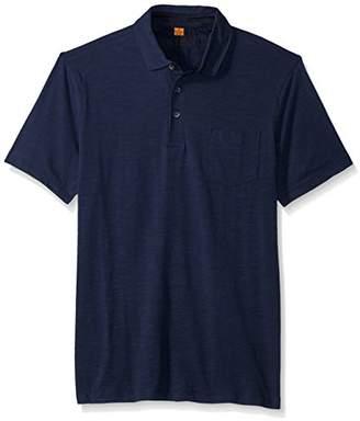 Tailor Vintage Men's Short Sleeve Stretch Slub Jersey Pocket Polo