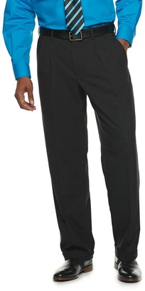 Croft & Barrow Men's Classic-Fit No-Iron Stretch Pleated Dress Pants