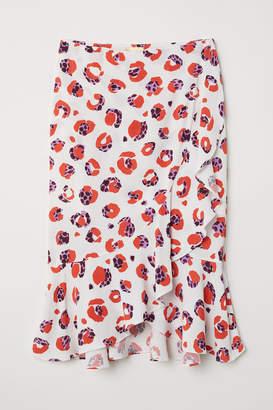 H&M Flounced wrapover skirt