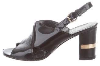 Stuart Weitzman Patent Leather Ankle Strap Heels