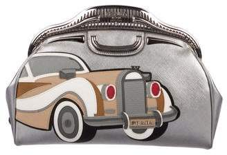 Prada Saffiano 50s Car Clutch