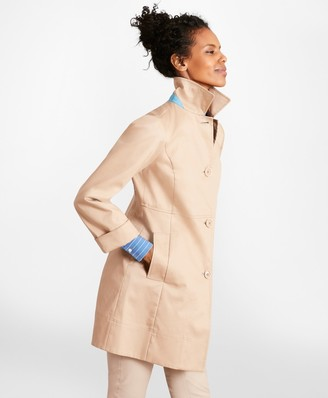 Brooks Brothers Water-Repellent Cotton Twill Swing Coat