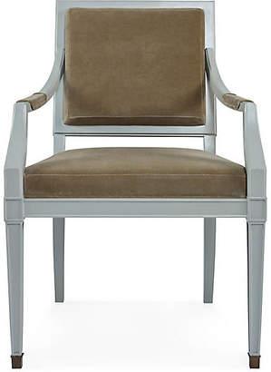Darryl Carter For Milling Road Windom Armchair - Almond Linen
