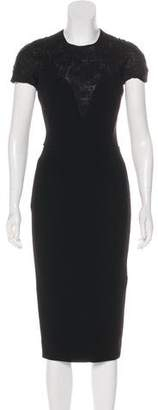 Victoria Beckham Short Sleeve Midi Dress w/ Tags