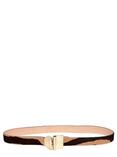 Emilio Pucci 25mm Printed Ponyskin Belt