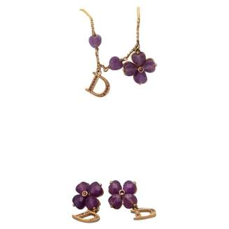 Christian Dior Purple Gold plated Jewellery sets