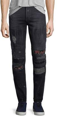 Marcelo Burlon County of Milan Ain Distressed Biker Jeans