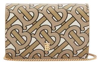 Burberry Jessie Monogram Logo Print Leather Chain Wallet - Womens - Beige Multi