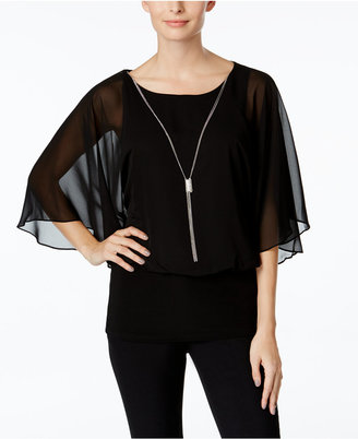 MSK Banded Chiffon Blouse $69 thestylecure.com