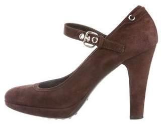 Car Shoe Suede Mary Jane Pumps