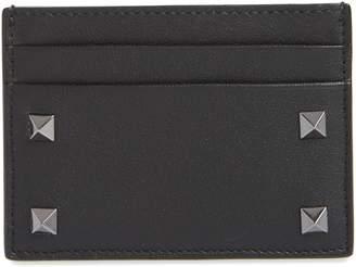 Valentino Stud Leather Card Case