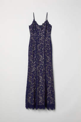 H&M Long Lace Dress - Blue