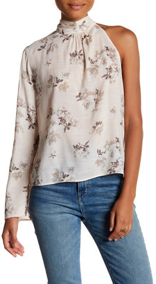 Mimi Chica One Shoulder Woven Blouse $36 thestylecure.com