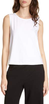 Eileen Fisher Stretch Cotton Shell