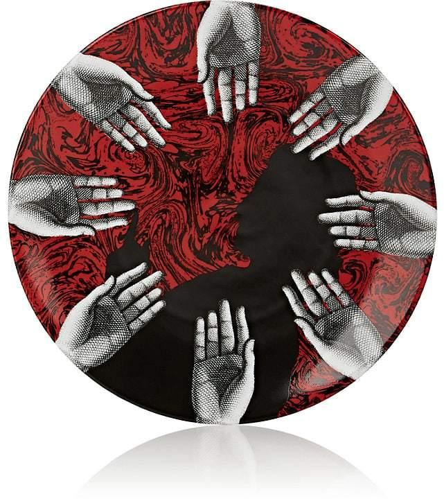 Hand-Motif Porcelain Wall Plate
