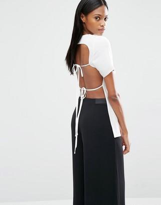 Lavish Alice Open Tie Back T-Shirt $68 thestylecure.com