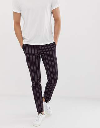 slim suit trousers in boat stripe